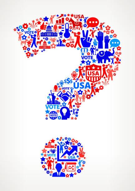 вопрос голосования и выборы сша отечественной значок рисунком - presidential debate stock illustrations