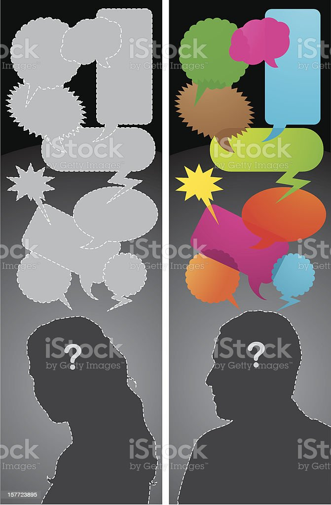 Questioning vector art illustration