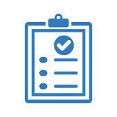istock Questionnaire, checklist blue icon 1267953257
