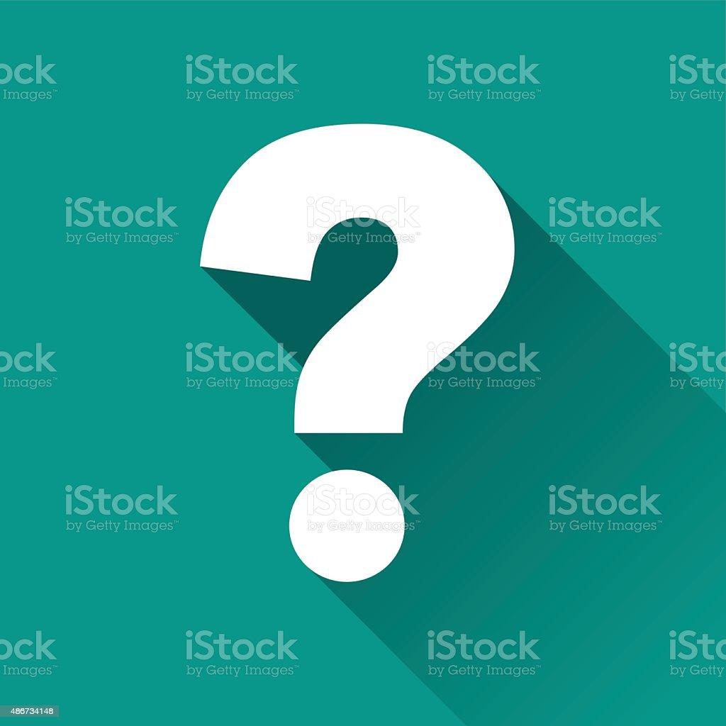 questions flat design icon vector art illustration