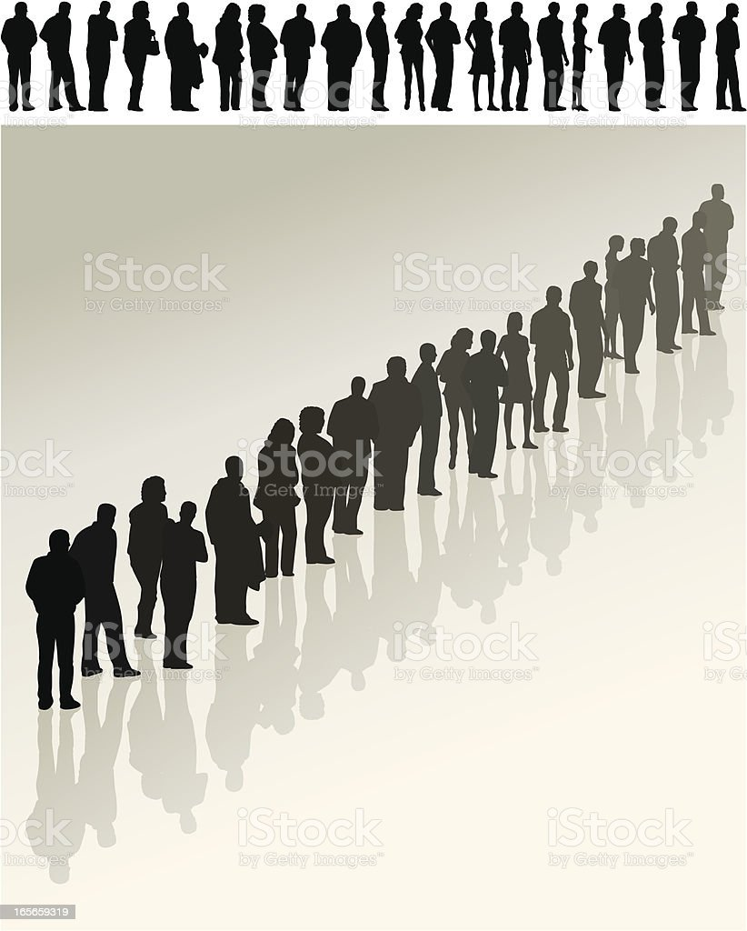 Queue vector art illustration