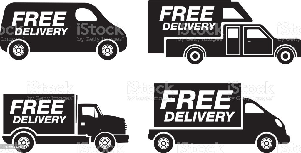 Quick Delivery Van - Illustration vector art illustration