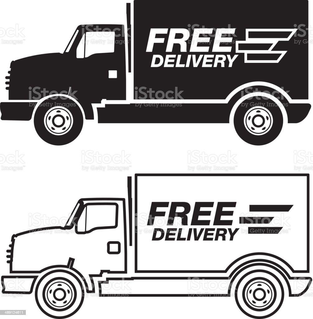 Quick Delivery Van vector art illustration
