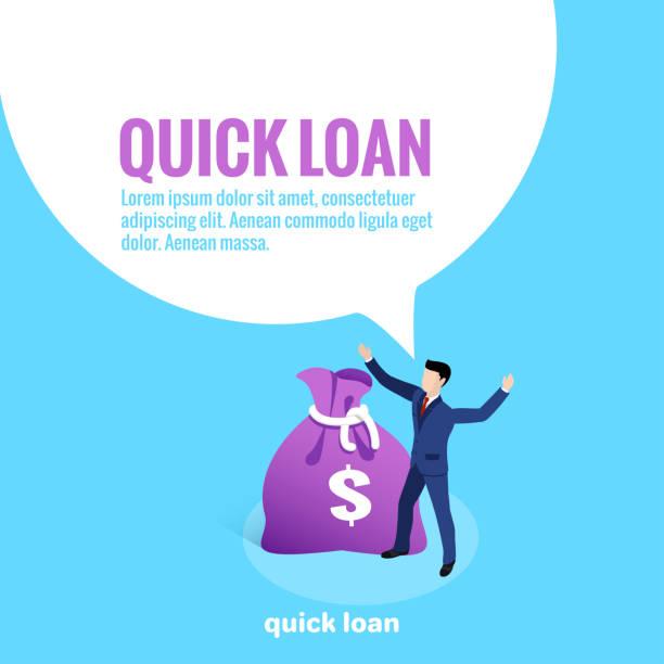 quick loan vector art illustration