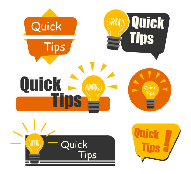 Quick Tips badge with light bulb and speech bubble. Trendy flat vector on white background. Quick tips, hint, helpful tricks, tooltip for website. Vector Illustration. Quick Tips badge with light bulb and speech bubble. Trendy flat vector on white background. Quick tips, hint, helpful tricks, tooltip for website. Vector Illustration. stunt stock illustrations
