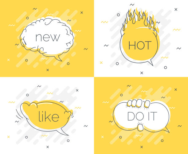 Quick Tips badge with speech bubble new brain, do it, like, hot. Trendy flat vector on yellow background. Smart concept vector illustration Quick Tips badge with speech bubble new brain, do it, like, hot. Trendy flat vector on yellow background. Smart concept vector illustration stunt stock illustrations