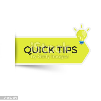 istock Quick Tips Sticker Icon Vector Design. 1249853995