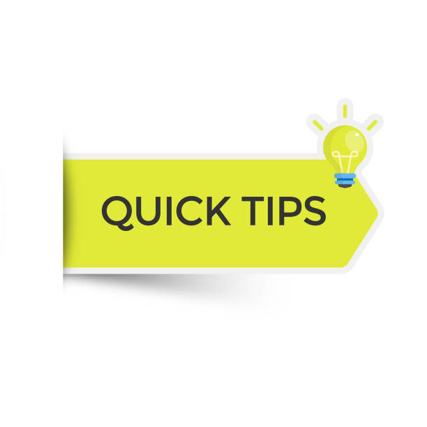 Quick Tips Sticker Icon Vector Design. Scalable to any size. Vector Illustration EPS 10 File. stunt stock illustrations