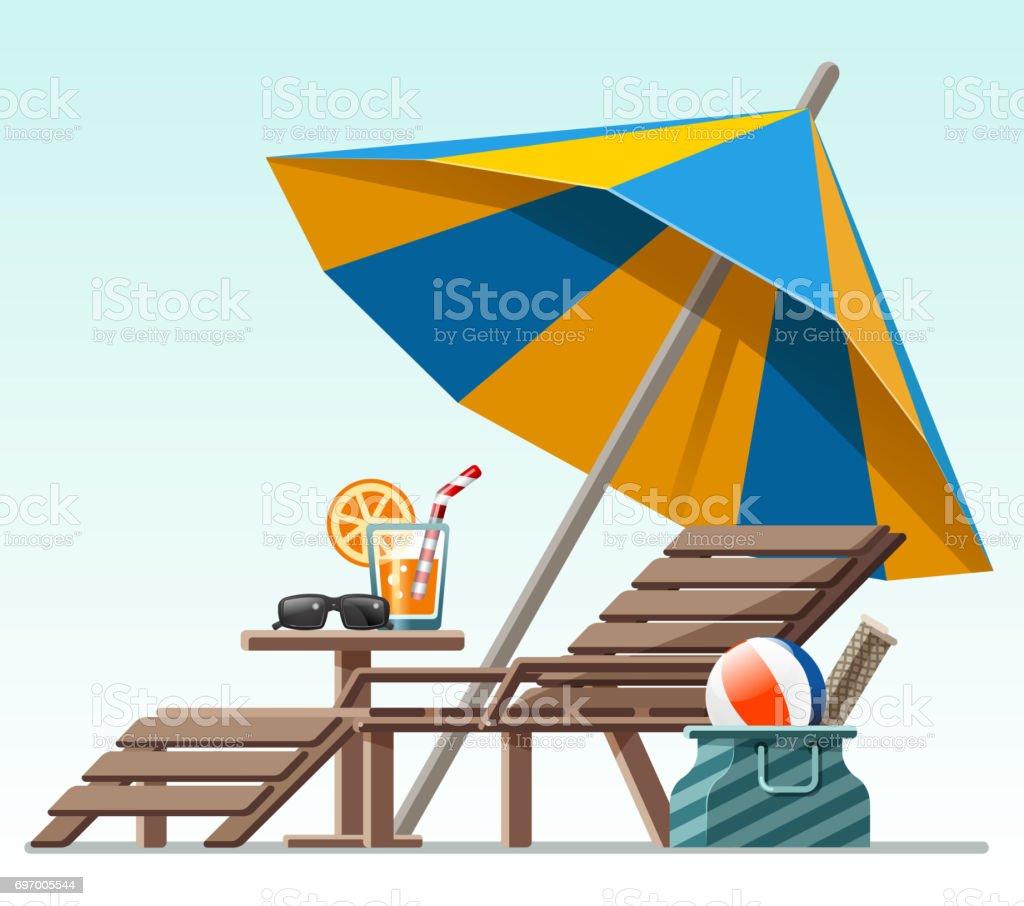 ruhigen Sommer – Vektorgrafik