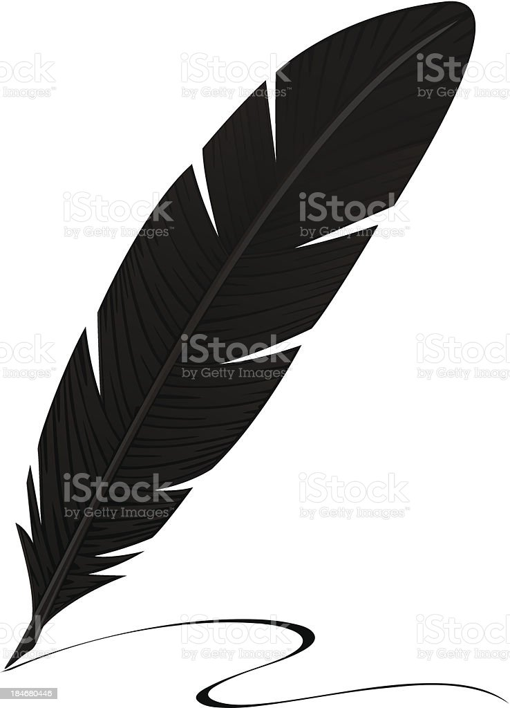 royalty free crow feather clip art vector images
