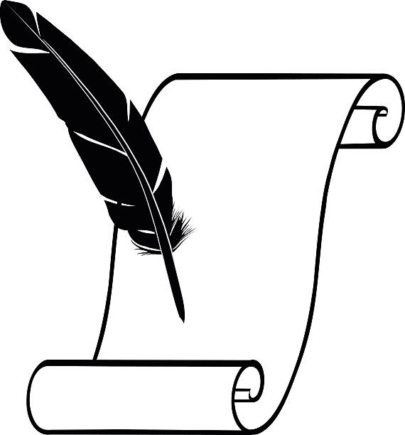 Royalty Free Feather Pen Clip Art, Vector Images ...