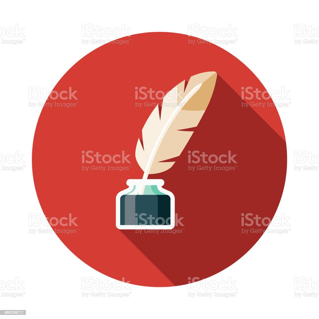 Quill Flat Design Fantasy Icon royalty-free quill flat design fantasy icon stock vector art & more images of adventure