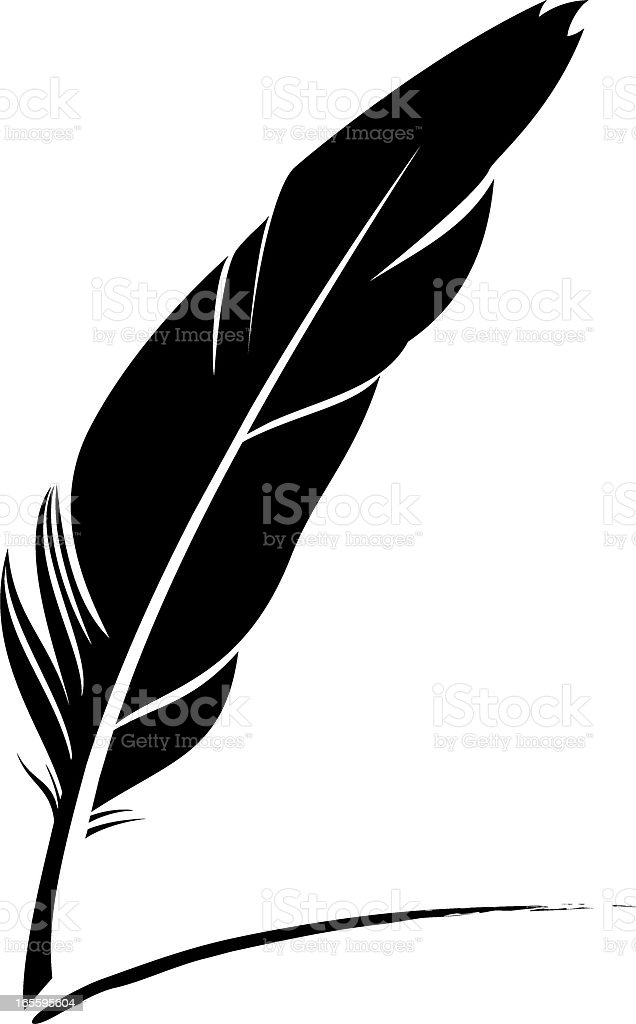 feather pen clip art, vector images & illustrations - istock