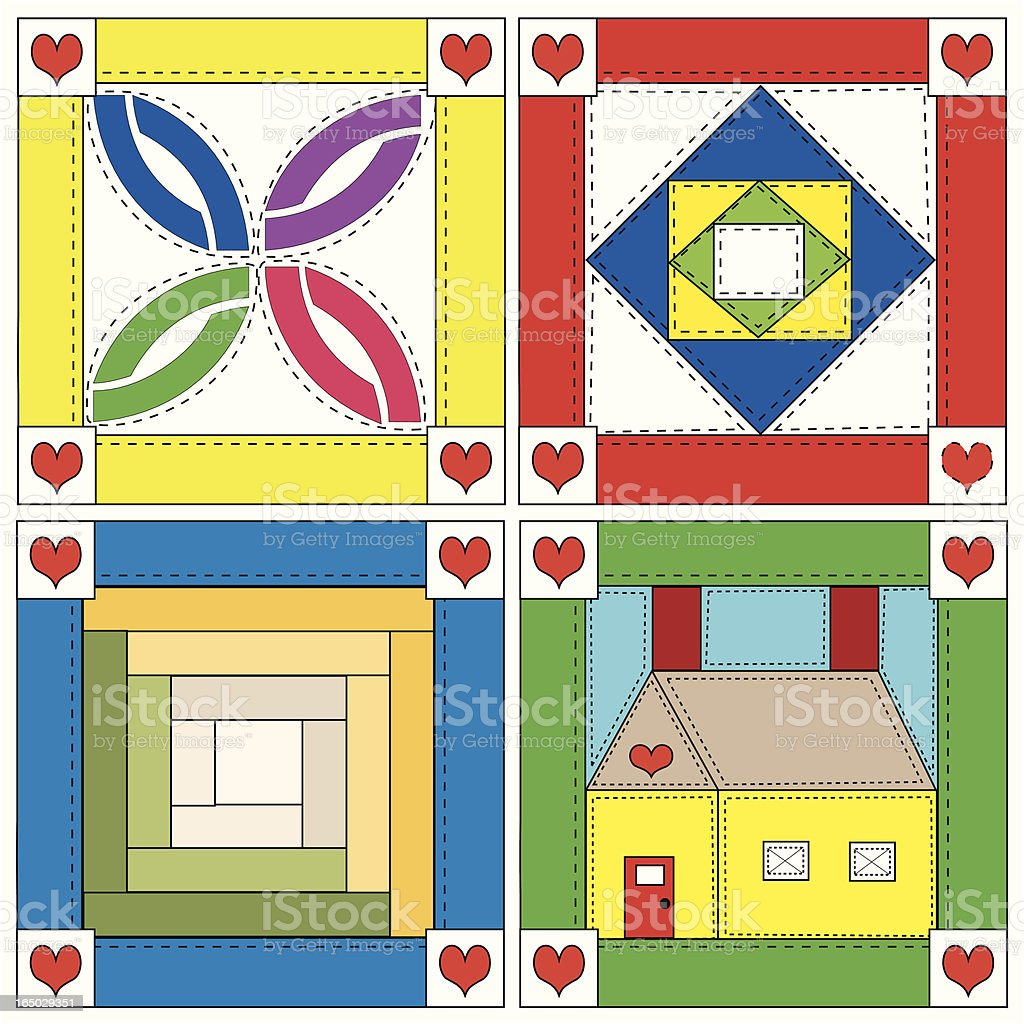 Quilt Blocks royalty-free stock vector art