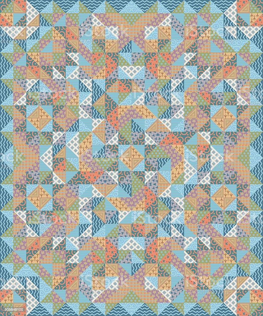 Patchwork piumino vettoriale colorato motivo coperta for Piani di coperta coperta