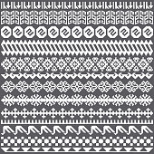 Quilt decorations combined to create seamless pattern illustration. Hand drawn vector graphic for creating fabrics, packaging, apparel, wallpaper designs.