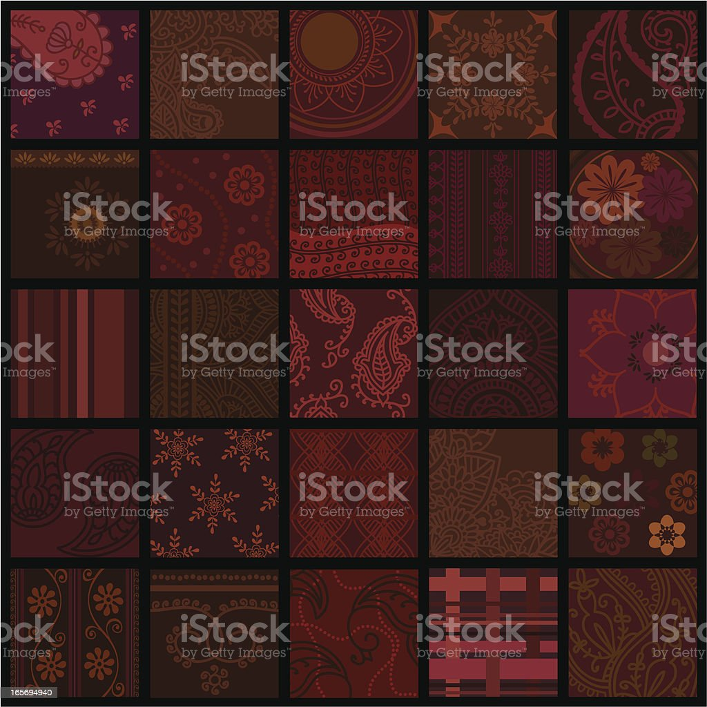 Quilt Squares royalty-free stock vector art