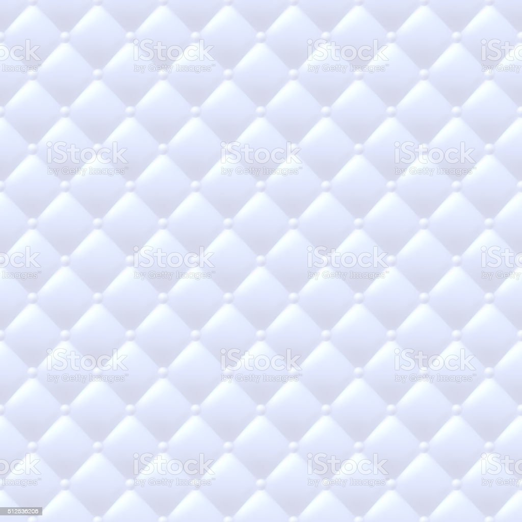 Quilted simple seamless pattern. White color vector art illustration