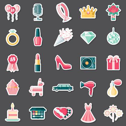 Quinceañera Sticker Set