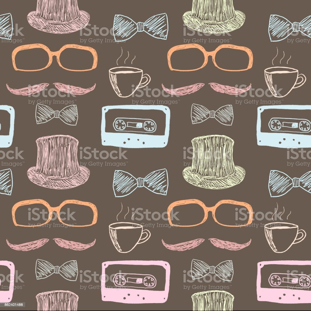 Quirky background vector art illustration