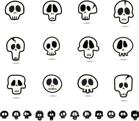 Quirky skulls