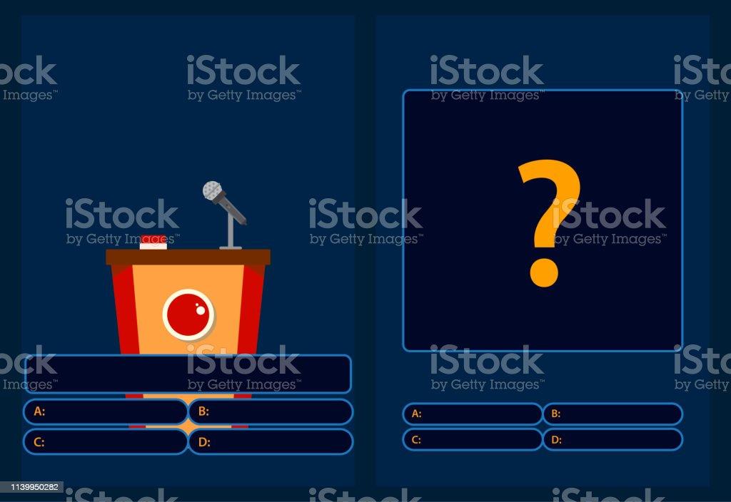 Vetores De Quiz Jogo Brainy Com Pergunta Jogo De Perguntas Com Respostas Ilustracao Lisa Colorida Do Vetor Dos Desenhos Animados E Mais Imagens De Bem Vestido Istock