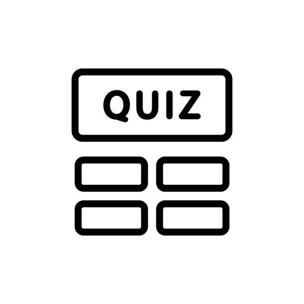 quiz game icon vector outline illustration quiz game icon vector. quiz game sign. isolated contour symbol illustration backgammon stock illustrations