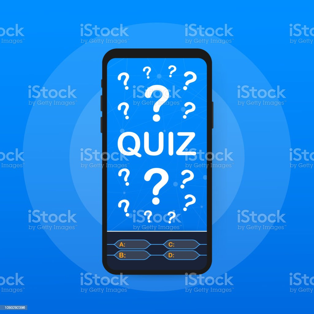 Quiz Game Vector Illustration Test Exam Answer Education