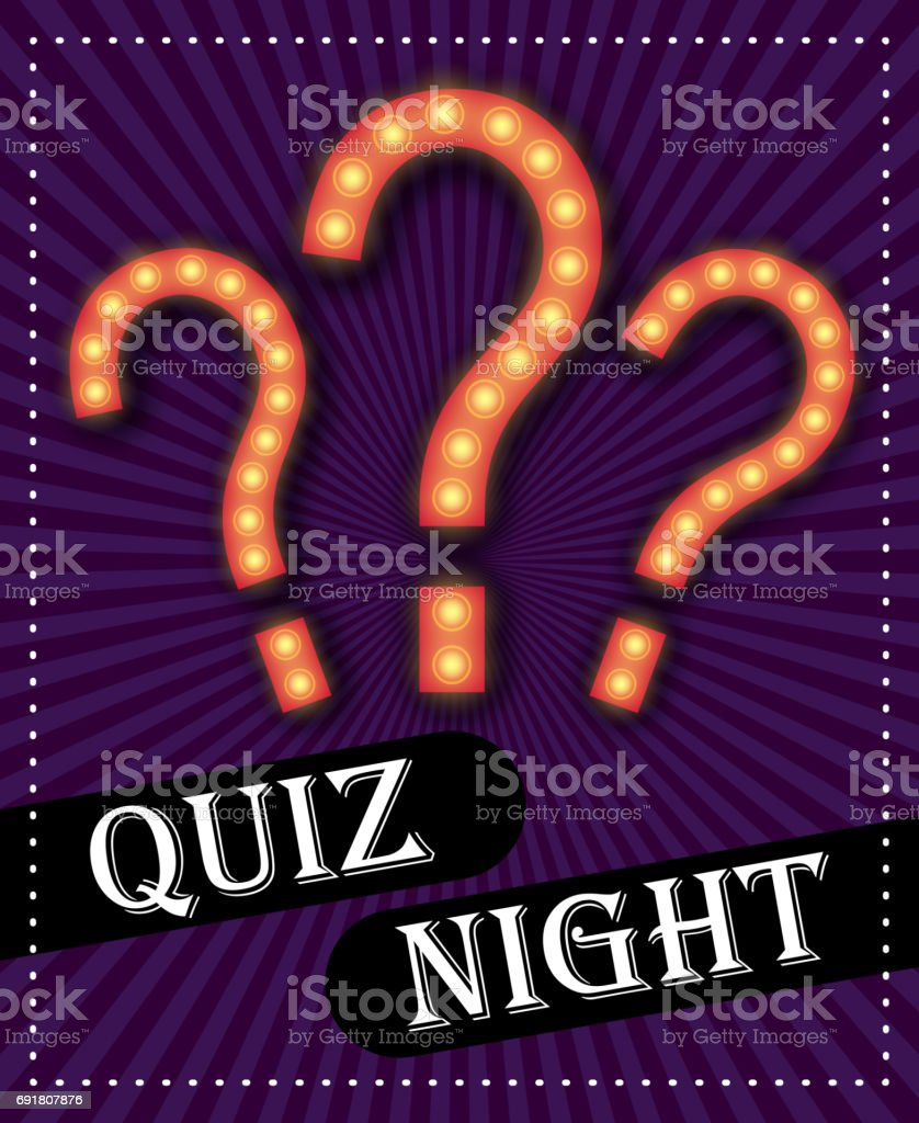 Quiz Night Announcement Poster Design Web Banner Background