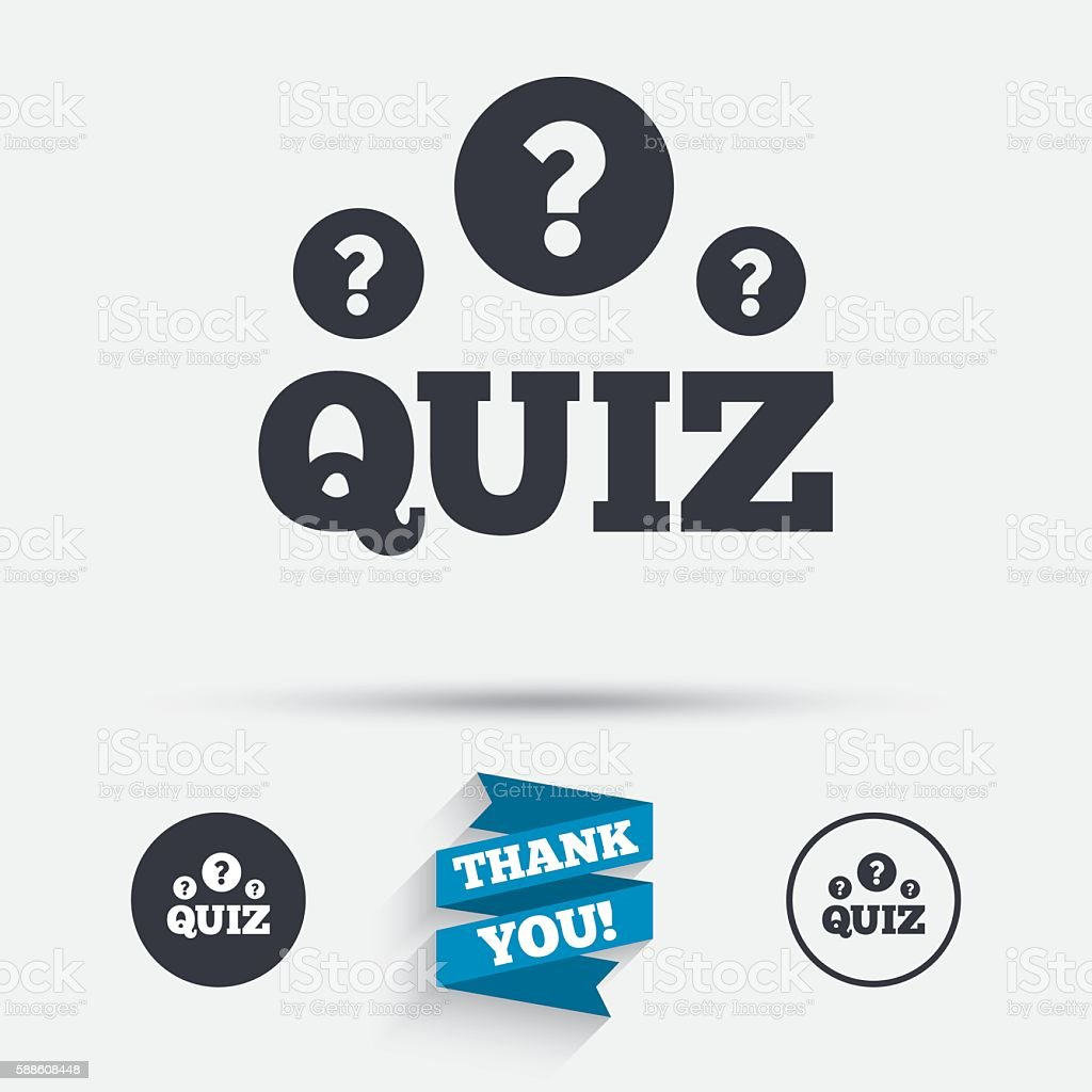 Quiz Sign Icon Questions And Answers Game Stock Illustration