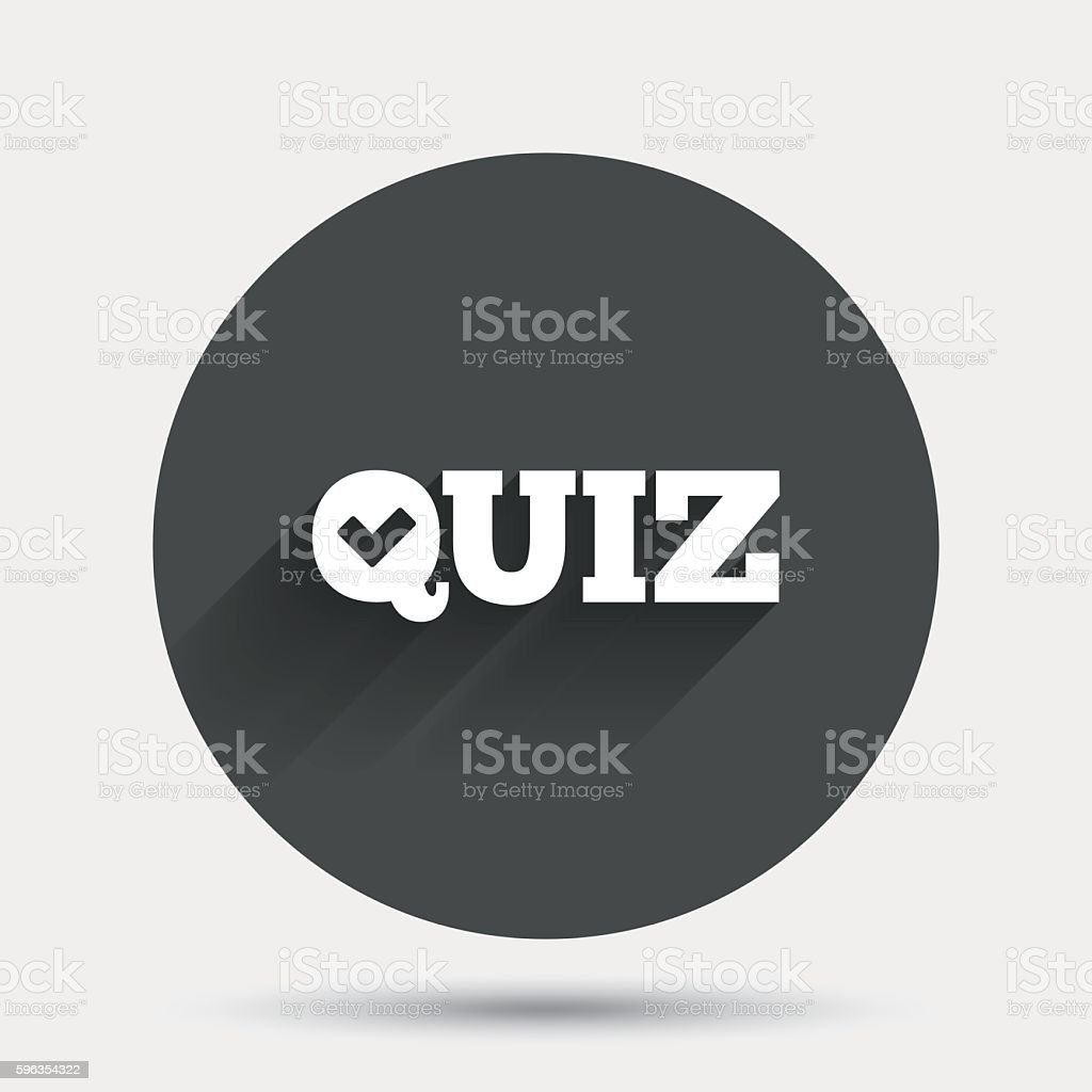 Quiz sign icon. Questions and answers game. royalty-free quiz sign icon questions and answers game stock vector art & more images of badge