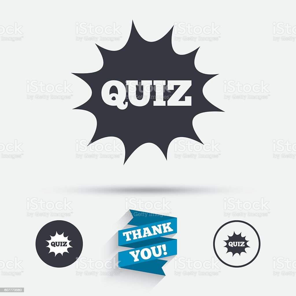 Quiz Sign Icon Questions And Answers Game Stock Vector Art More