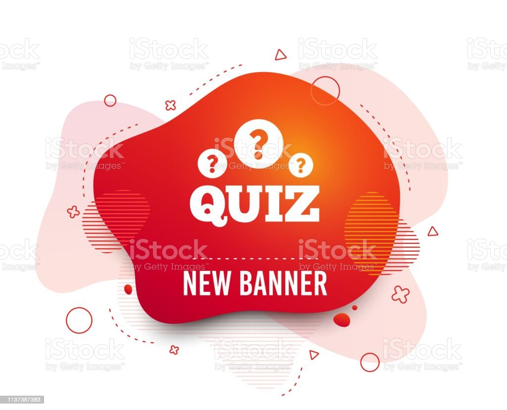 Quiz Sign Icon Questions And Answers Game Vector Stock Illustration