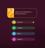 quiz questionnaire template design