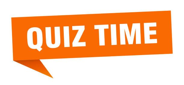 quiz time banner. quiz time speech bubble. quiz time sign vector art illustration