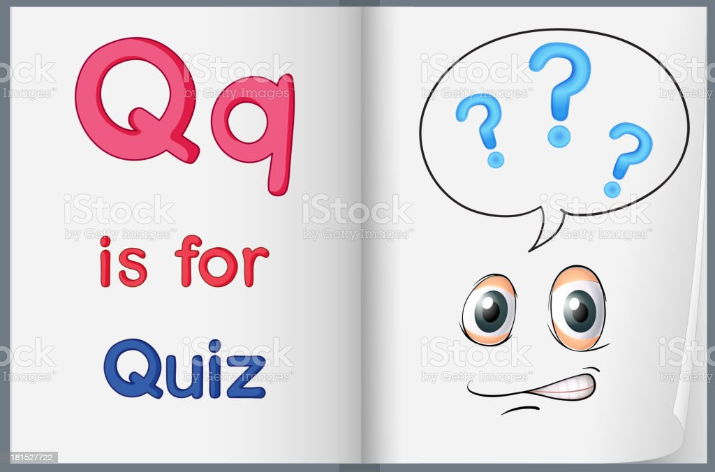 Quiz royalty-free stock vector art