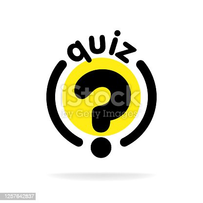 Quiz with question mark sign icon. Questions and answers game symbol. Classic flat quiz icon. Vector.