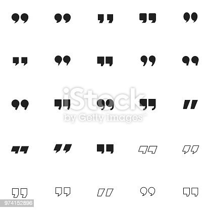 Quotation mark icon set , vector illustration