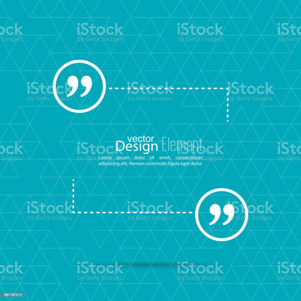 Citação Mark balão de diálogo. - ilustração de arte em vetor