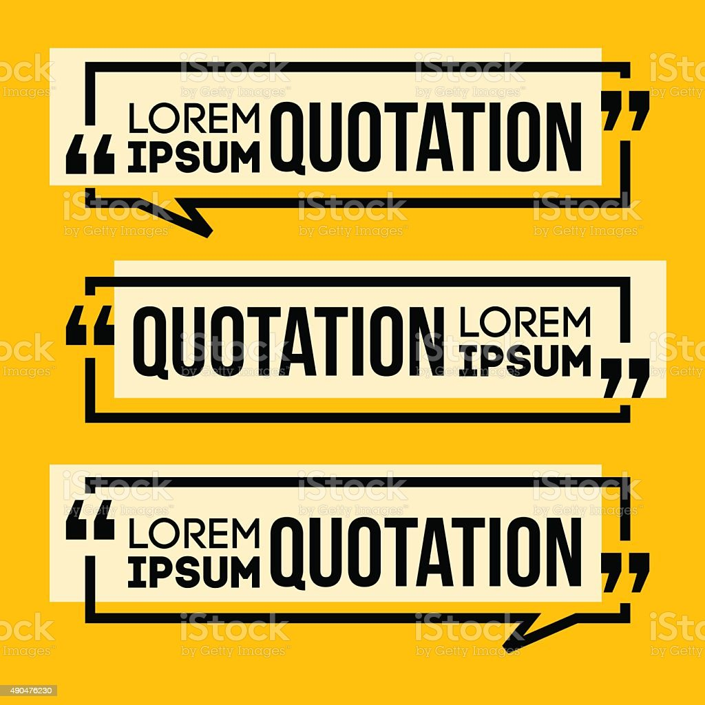 Quotation Speech banner vector art illustration