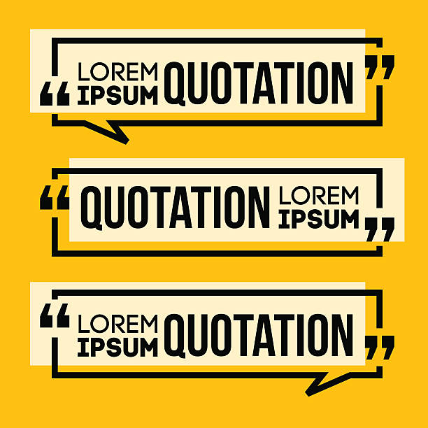 Quotation Speech banner Quotation Speech banner. Quote vector set icon. himbeeren stock illustrations