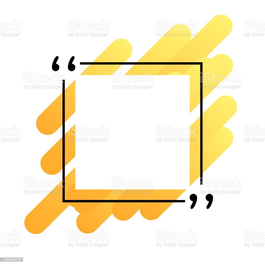 Angebotsvorlage In Anführungszeichen Kreative Banner Vektorgrafik