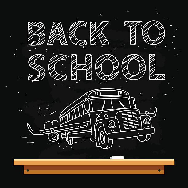 bildbanksillustrationer, clip art samt tecknat material och ikoner med quote back to school - wheel black background