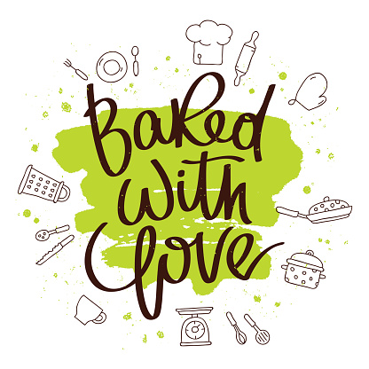 Download Quote Baked With Love Stock Illustration - Download Image ...