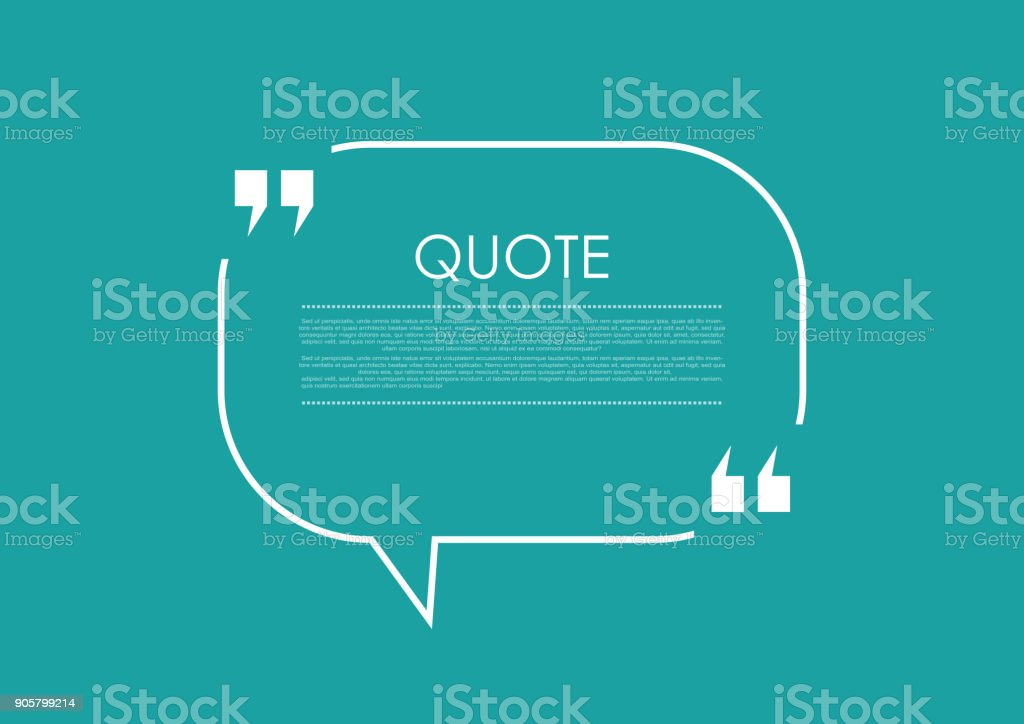 Quote blank speech bubble abstract bright design vector art illustration