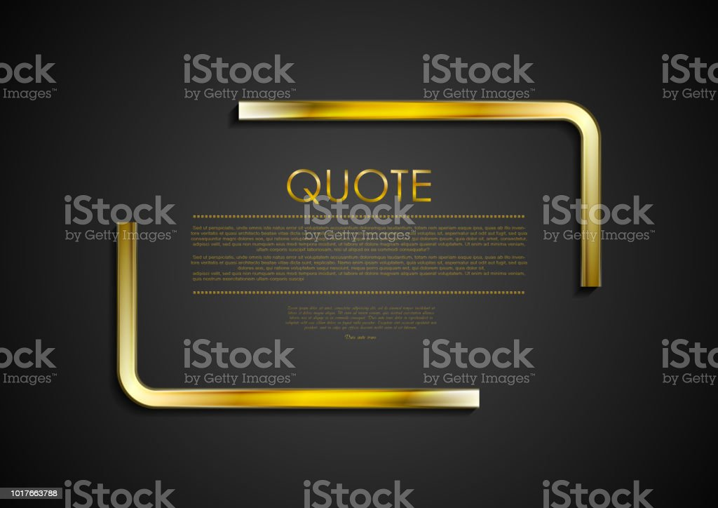Quote blank speech bubble abstract metal design vector art illustration