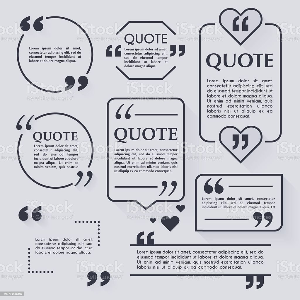 Quote blank template. Design elements, circle business card, pap vector art illustration