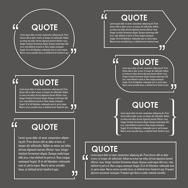 Quote blank template. Quote bubble. vector art illustration