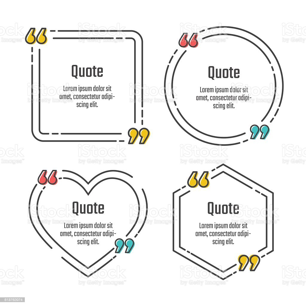 quote blank template stock vector art more images of bracket