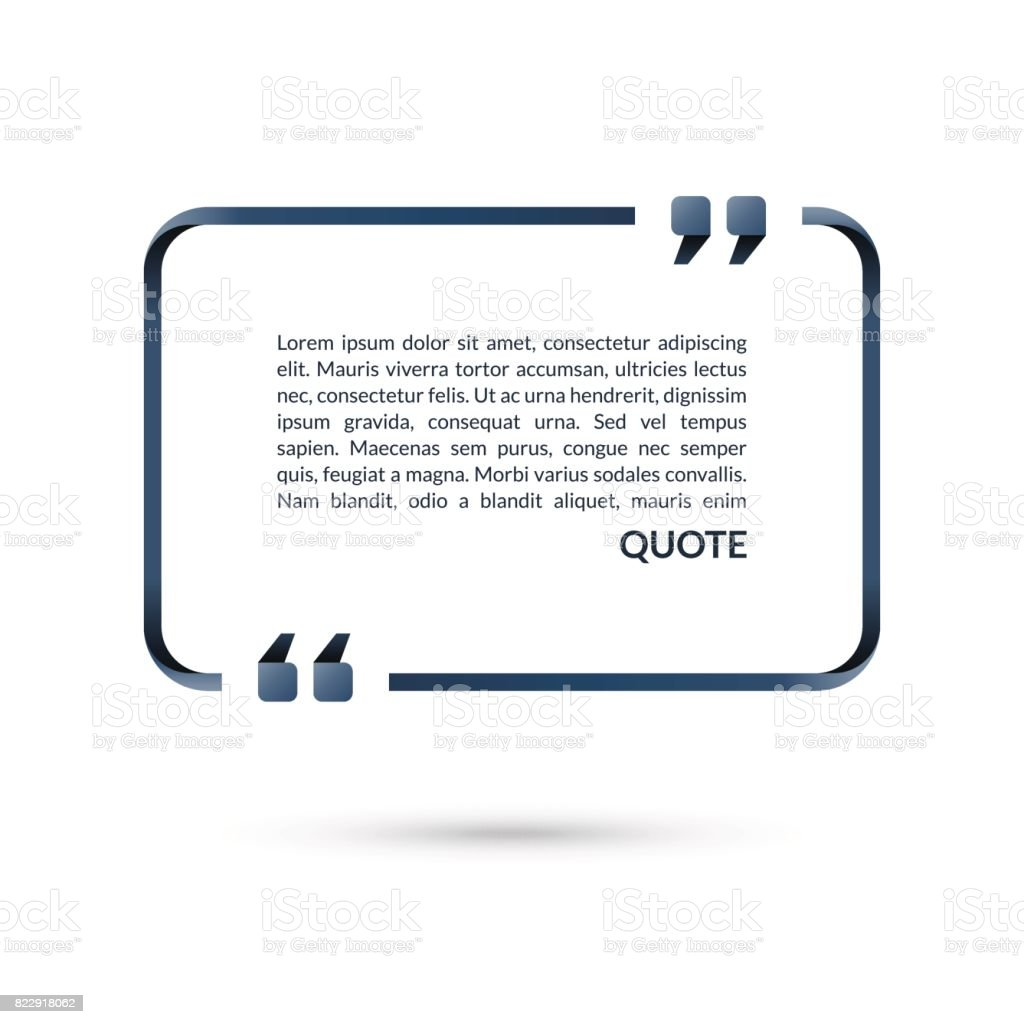 Zitatbox Sprechblase Leere Rahmen Für Zitate Text In Klammern ...